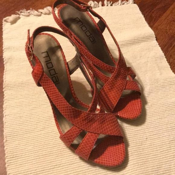 Moda Spana Shoes - Moda Pink heeled sandals. Size 7